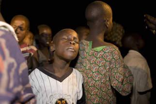 Africa, Uganda, Gulu<br /> The Arche Noah, a night shelter of the Kindernothilfe KNH for kids to protect them of getting abducted and become a child soldier. The kids are dancing and singing in the evening until they are tired.<br /> Die Arche Noah, eine Nachtunterkunft der Kindernothilfe um Kinder vor Entfuehrung zu schuetzen, damit aus ihnen keine Kindersoldaten gemacht werden. Die Kinder tanzen und singen am Abend bis sie muede sind.<br /> 08.2006.<br /> Nur Digital only.<br /> Copyright: Frank Peterschroeder / Kindernothilfe.<br /> DVD-2006-0080.